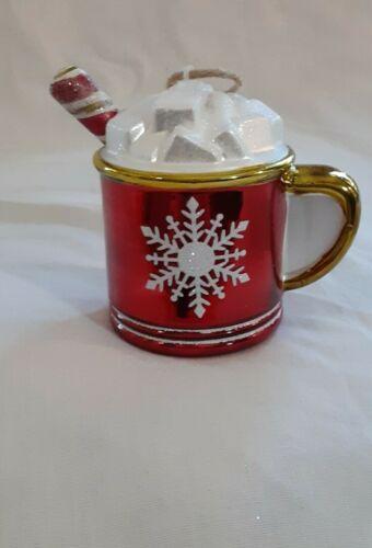 Pottery Barn Mercury Glass Hot Chocolate Mug Ornament