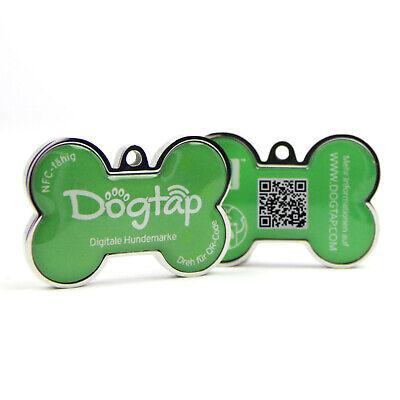 100% Kwaliteit Dogtap Solid - Digitale Hundemarke, Grün - Alle Daten Zum Hund Am Hund Fijn Vakmanschap
