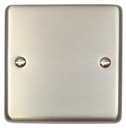 G/&H css31 standard plaque acier brossé 1 Gang plaque unique blanc