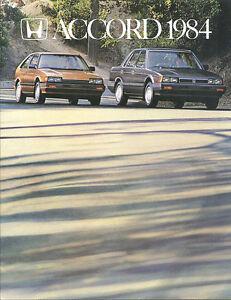 1984-HONDA-ACCORD-Brochure-Catalog-Pamphlet-LX