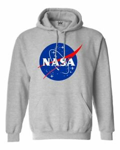 NASA-Logo-Spaceman-Astronaut-Sweat-Shirts-Gray-S-2XL