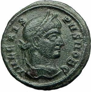 CRISPUS-Caesar-Constantine-the-Great-son-321AD-Ancient-Roiman-Coin-WREATH-i75848