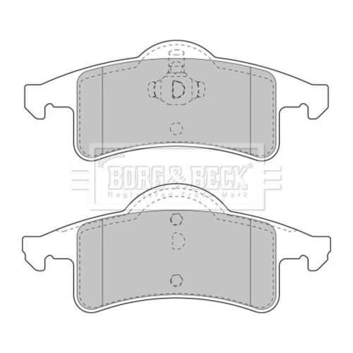 Genuine Borg /& Beck Rear Brake Pads BBP1782