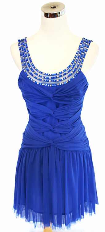 BCBG MAX AZRIA bluesaphire Party Prom Dress M -  NWT