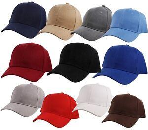 80ee1ac7dfb Plain Curved Bill Visor Peak Strap Back Baseball Cap Hat Adjustable ...