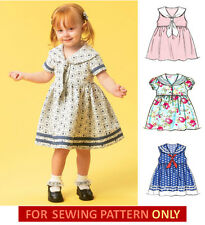 SEWING PATTERN! MAKE GIRL'S DRESS! TODDLER~CHILD SUMMER CLOTHES! SIZES 1/2~4!