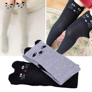 e44997504 Girls Women Lovely Cartoon Stockings Animal Cat Ear Over Knee High ...