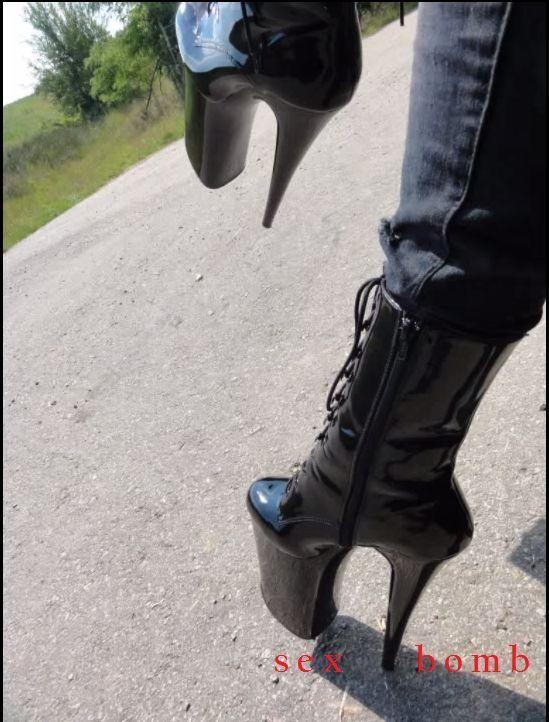 SEXY botines atado EXTREMO tacón plataforma 25 DE 35 35 35 A 39 el GLAMOUR de la moda 539a5f