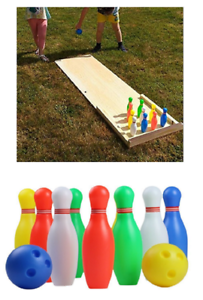 Image Is Loading Kids Outdoor Toys Garden Activities Family Bowling Set