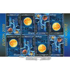 Azerbaigian Azerbaijan EUROPA CEPT 2009, astronomia, MH-ARCO ** Fresco Posta