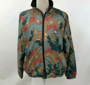 Obey-Men-039-s-Mock-Neck-Softshell-Jacket-Lense-Drip-Camo-Size-M-NWT-Andre