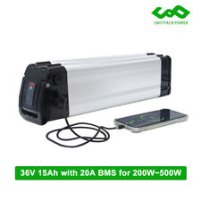 36V 10ah 500W Silver Fish Electric bike Lithium Battery with 20A BMS and Charger