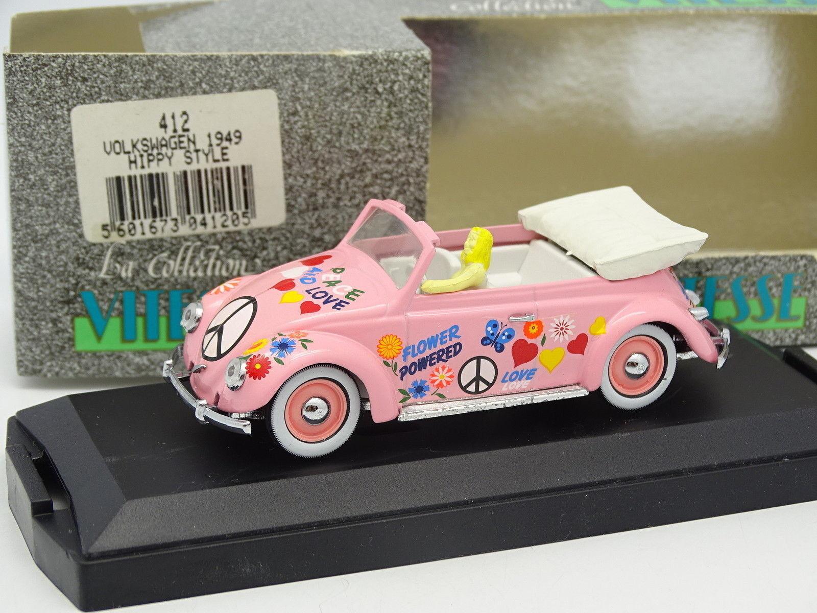 edición limitada Velocidad 1 43- VW Beetle Mariquita Cabriolet Hippy Estilo Estilo Estilo 1949  Ahorre 35% - 70% de descuento