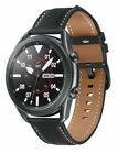 Samsung Galaxy Watch3 SM-R840 45mm Stainless Steel Case with Leather Strap - Mystic Black (Bluetooth) - SM-R840NZKAXAR