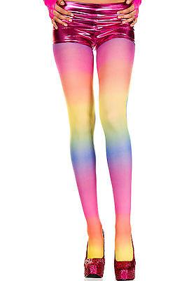 Rainbow Multi Colour Opaque Tights Sexy Designer Lingerie P37007