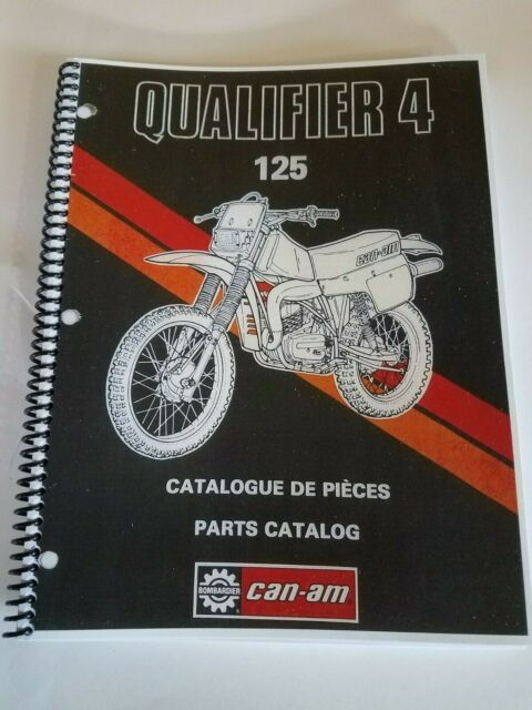 CAN-AM QUALIFIER 4 125  PARTS BOOK ENG + FRENCH FREE SHIP US+CANADA