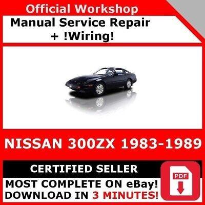 # Fabbrica Officina Servizio Riparazione Manuale Per Nissan 300zx 1983-1989 + Cablaggio- Rafforza Tendini E Ossa