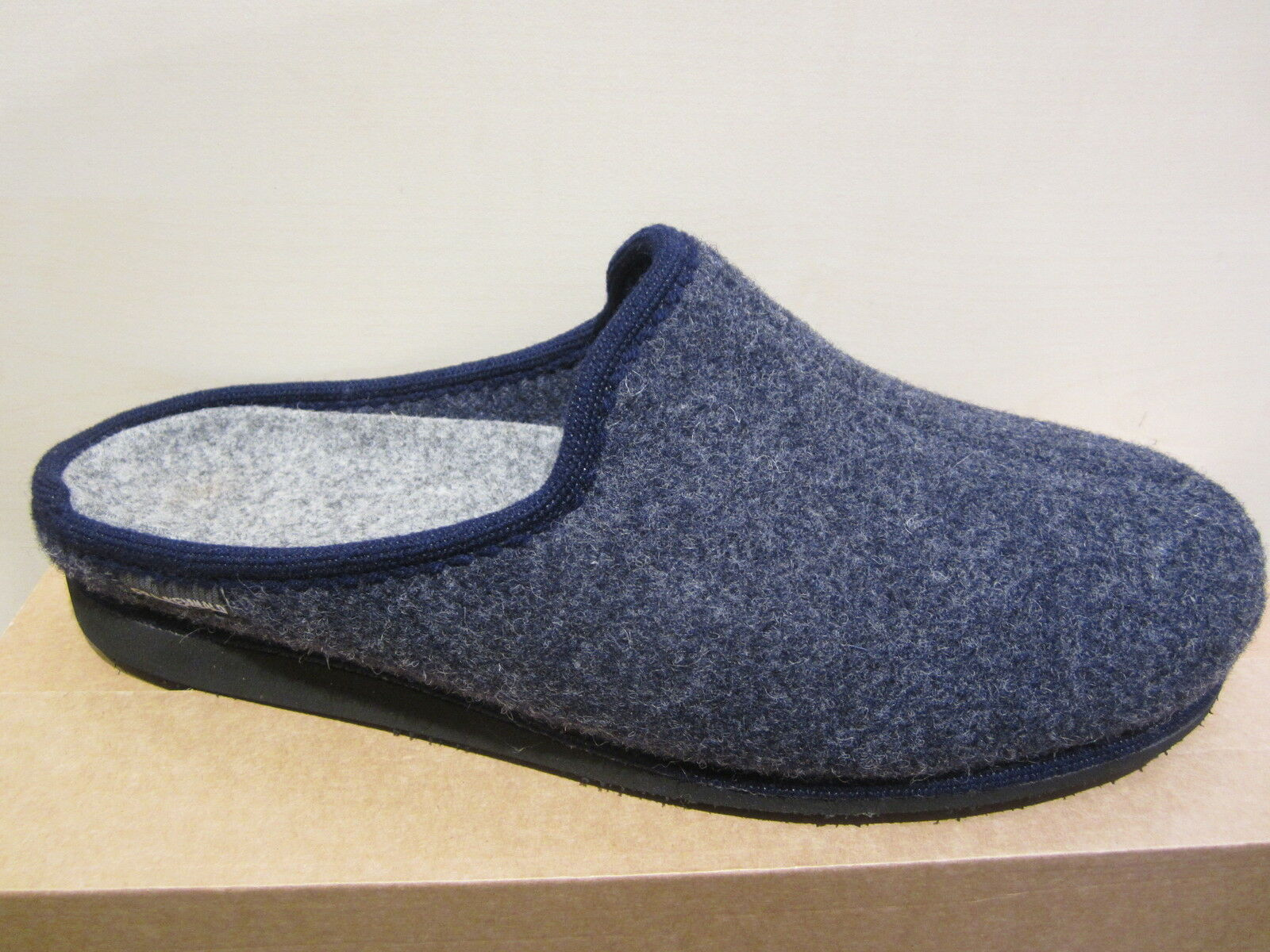 Frankenwald Men's Slipper Slippers Wool Felt bluee New