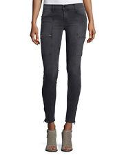 J Brand Kassidy jeans in grey cascade, zipper leg, zipper pockets, skinny, s 24