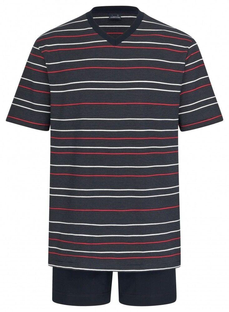 Ammann Nachtwäsche Extra Light Cotton Herren Schlafanzug kurz 9935 Herren