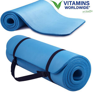 EXTRA-THICK-FOAM-EXERCISE-Yoga-Mat-Gym-Workout-Fitness-Pilates-Pad-Carrying-Stra