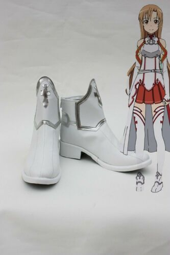 Anime Sword Art Online SAO Asuna Yuuki Cosplay Boots Shoes {free shipping Hot