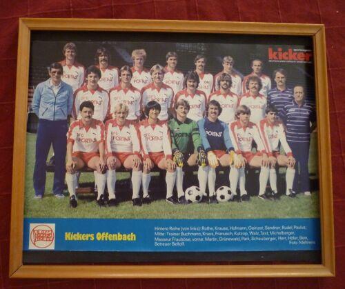 Poster Kickers Offenbach , Bundesligaaufsteiger 1982/83