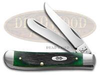 Case Xx Barnboard Hunter Green Bone Mini Trapper Stainless Pocket Knife Knives