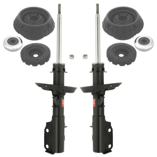 KYB Front Suspension Struts and Mounts Kit For Honda Fit 09-13 Insight 10-14 NEW