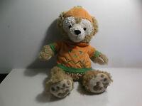 """Disney Duffy Bear Halloween Pumpkin Hidden Mickey Bear Plush Parks 12"""""""