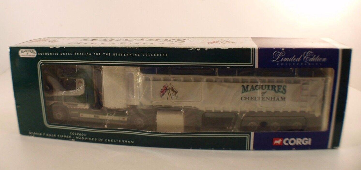 Corgi CC12803 • • • Scania Bulk Tipper Maguires of Cheltenham 1 50 •en boîte   boxed 8cd644