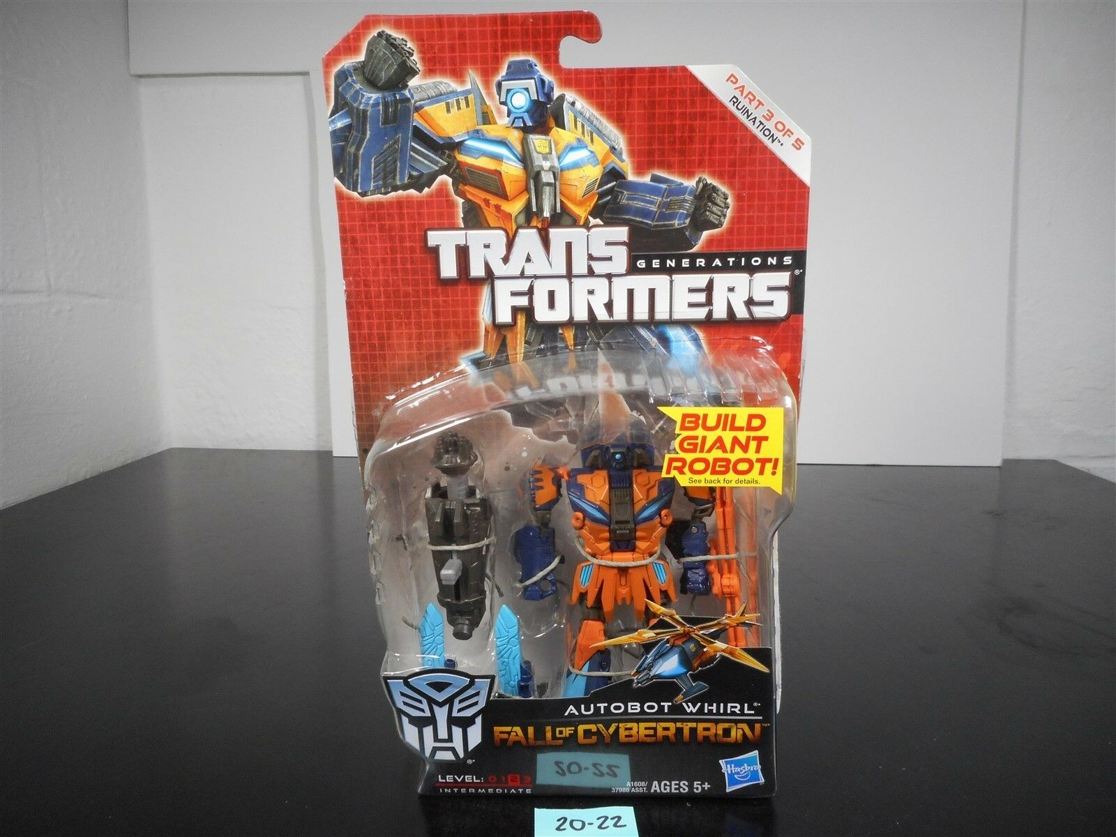 NEW & SEALED  TRANSFORMERS GENERATIONS FOC AUTOBOT WHIRL RUINATION 3 OF 5 20-22