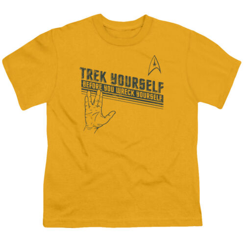 TREK YOURSELF Before You Wreck Yourself Spock Licensed BOYS /& GIRLS T-Shirt S-XL