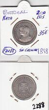 F2288 MONEDA PORTUGAL 200 REIS 1898 PLATA SC