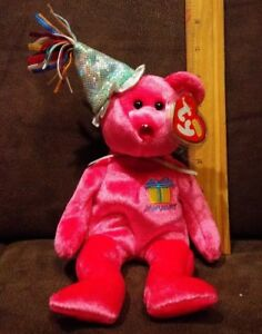 965e9a84e6c TY Birthday Beanie Baby - JANUARY the Birthday Bear - with Mint Tags ...