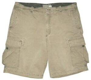 OLD-NAVY-CHALKY-OLIVE-KHAKI-VINTAGE-DISTRESSED-MILITARY-CARGO-MENS-SHORTS-38-40