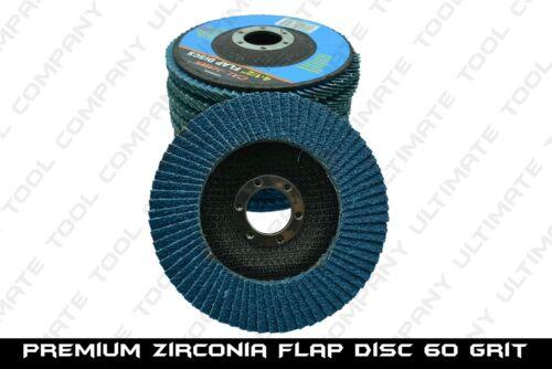 """10pc Premium Zirconia Flap Disc 4-1//2/"""" x7//8/"""" 60 Grit Grinding Wheel Metal Steel"""