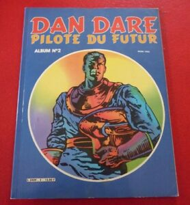 Vintage-Soft-Cover-French-Comic-Book-Dan-Dare-Pilote-du-Futur-Album-No-2