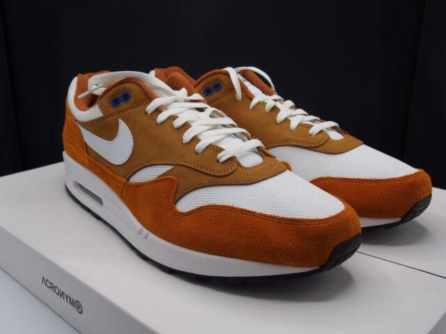 Mens Nike Air Max 1 Premium Retro 908366 700 Dark Currytrue White Size 15