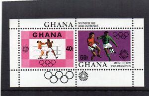 GHANA-1972-OLYMPIC-GAMES-MINIATURE-SHEET-UM-MNH-SG-MS645-BOXING-FOOTBALL