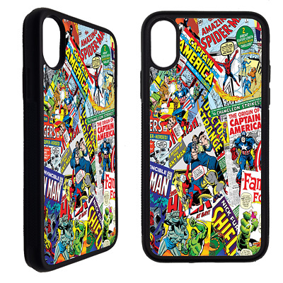 Cover custodia Per Iphone Samsung FUMETTI SUPEREROI MARVEL Collage sticker bomb | eBay