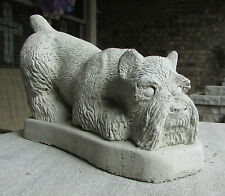 CONCRETE SCHNAUZER DOG STATUE OR USE AS A MONUMENT