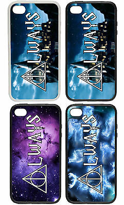 Deathly Hallows Always Rubber and Plastic Phone Cover Case Harry Potter Inspired