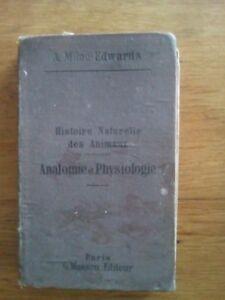 MILNE-Edwards-ANATOMIE-ET-PHYSIOLOGIE-ANIMALE-1885-ED-MASSON-2EME-EDITION