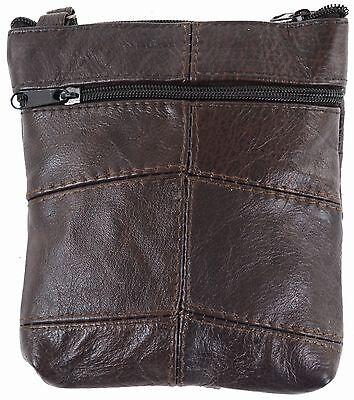 Damen Leder Umhängetasche/Portemonnaie (schwarz, hellbraun, beige, dunkelbraun)