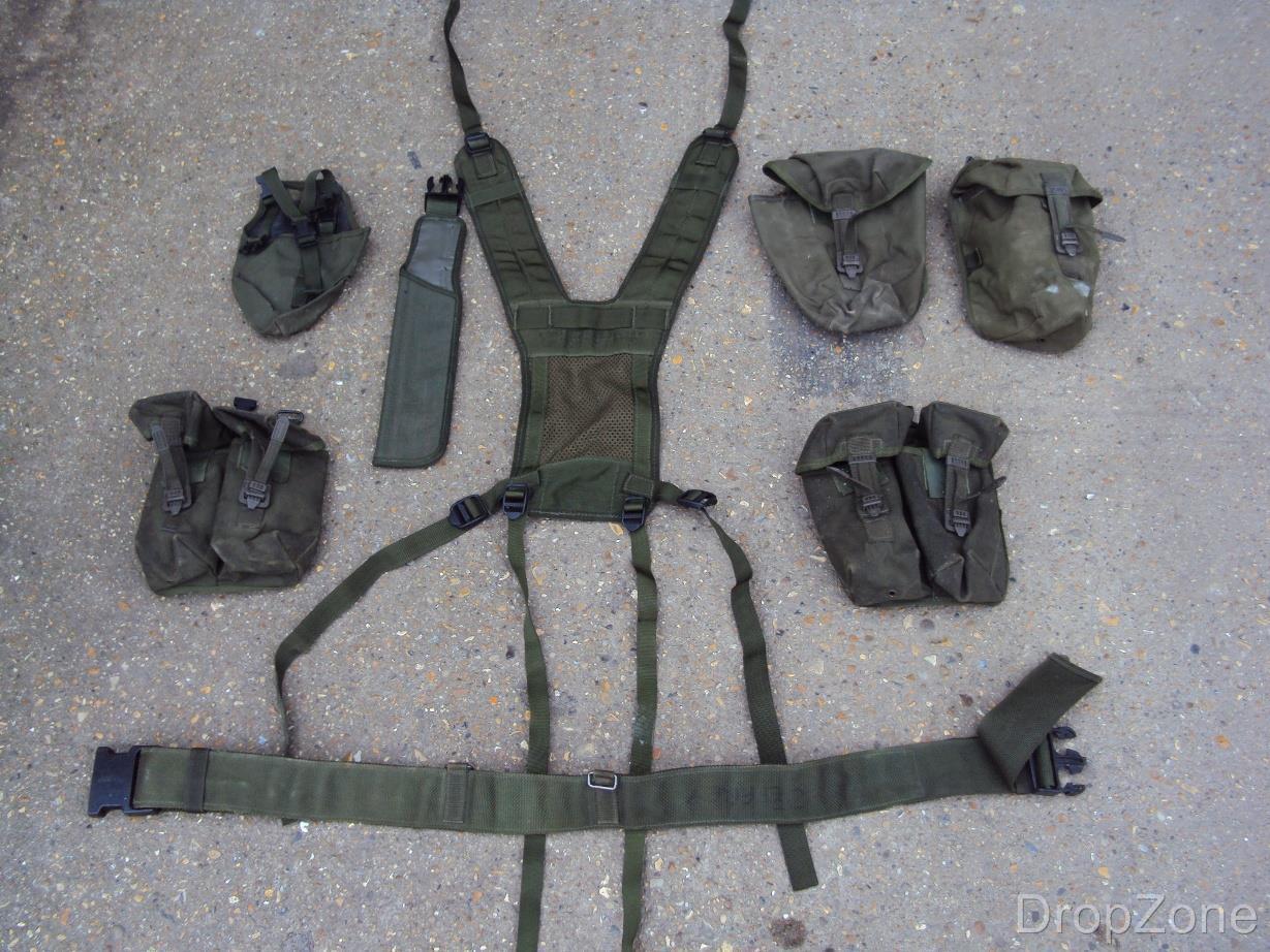 Militare Inglese Army green Oliva Plce Tessitura Set, Sacchetti, Giogo,  Cintura,  online sale