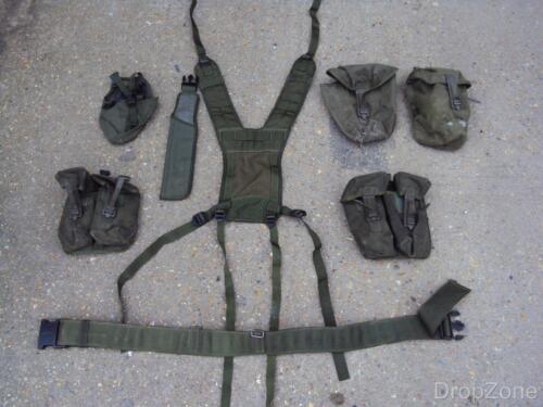 Joch Gürtel, Beutel Britisch- Militär Armee Olivgrün Plce Gurtband Set