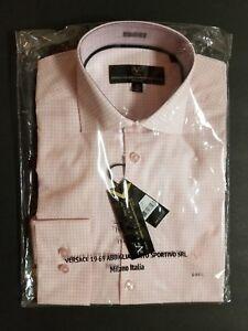 Versace Abbigliamento V 1969 Mens Dress Shirt VE1-088 Pink S M or L ... b85553bd4a7e0