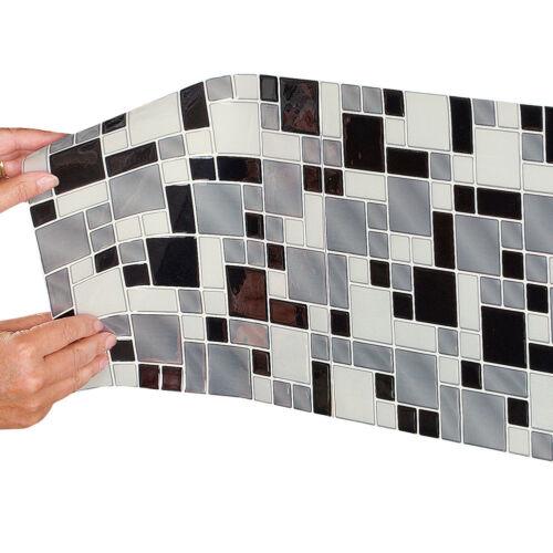"10/"" x  10/"" Kitchen Backsplash  Peel /& Stick Tile Geometric Design 6 Pack 40770"