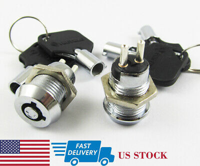 1pc 18x16mm High Quality A Series 2803 2NO/&2NC ON//OFF Key Ignition Lock Switch